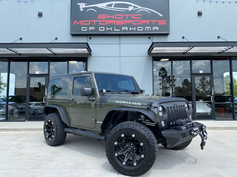Used 2015 Jeep Wrangler Rubicon for sale $27,395 at Exotic Motorsports of Oklahoma in Edmond OK