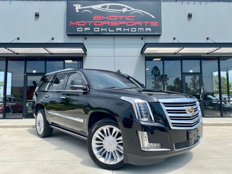 Used 2017 Cadillac Escalade Platinum Edition for sale $53,495 at Exotic Motorsports of Oklahoma in Edmond OK